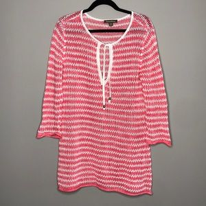 Tommy Bahama open knit sweater beach coverup